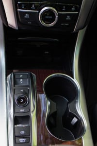 The TLX had this gear selector, but also had flappy paddles on the steering wheel.