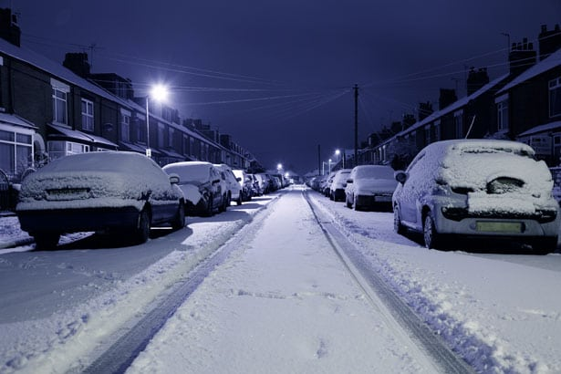 Public Domain: http://www.publicdomainpictures.net/pictures/40000/nahled/snow-covered-street.jpg