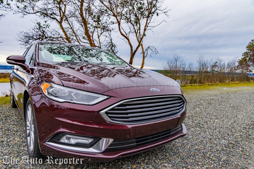 A Burgundy Velvet Green Machine 2017 Ford Fusion Energi