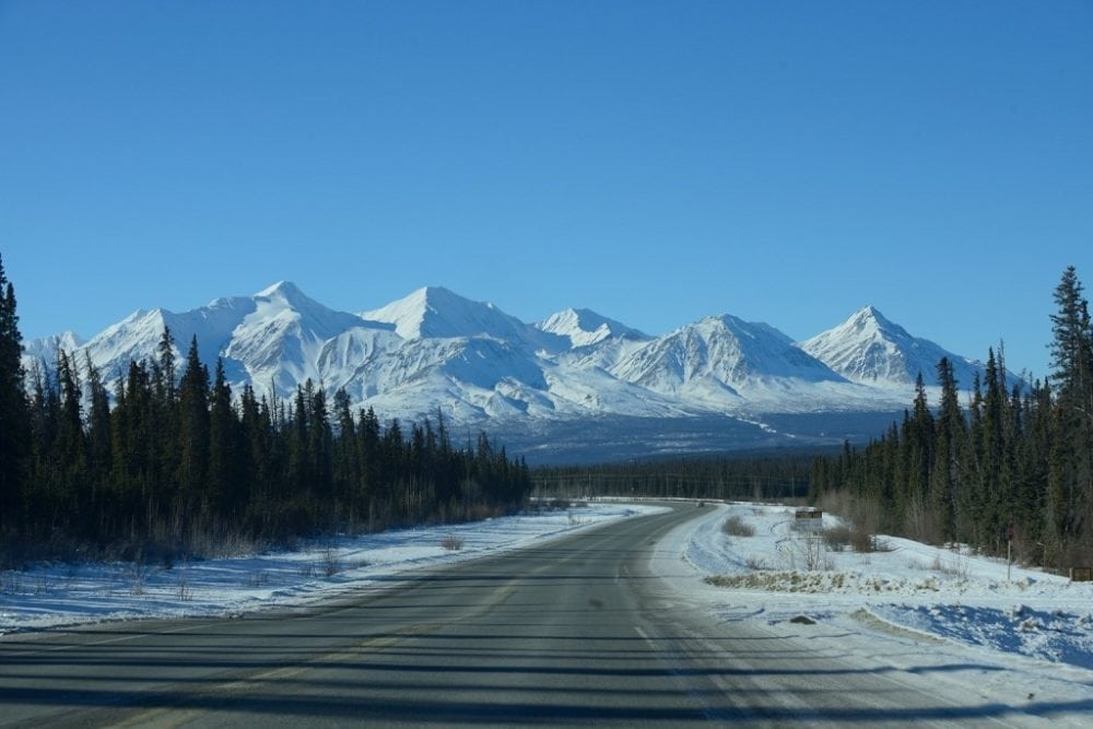 A typical view from the Alcan Highway in February.