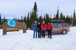 Photo op at the Arctic Circle on the way north to Coldfoot, AK.