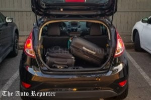Ford Fiesta review car cargo space.